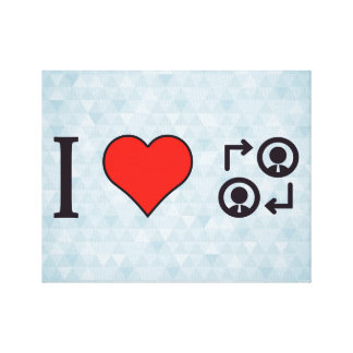 I Love Business People Canvas Print