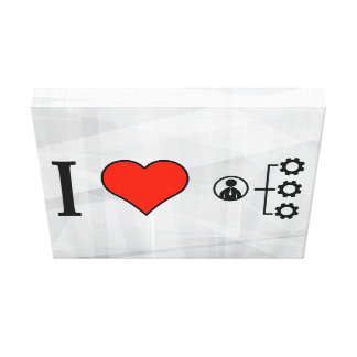 I Love Business Resources Gallery Wrapped Canvas
