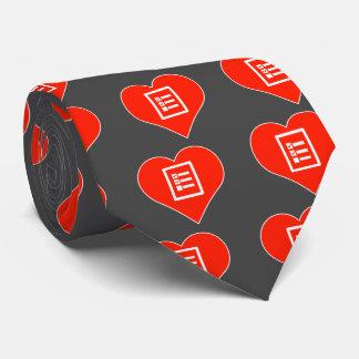 I Love Business Tie