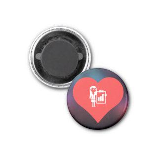 I Love Business Women Icon 3 Cm Round Magnet