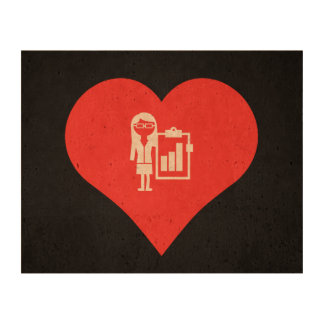 I Love Business Women Icon Cork Paper