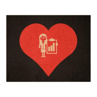I Love Business Women Icon Photo Cork Paper