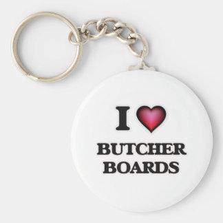 I Love Butcher Boards Key Ring