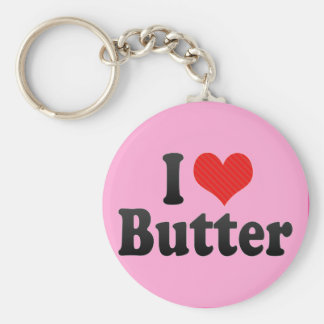 I Love Butter Key Ring