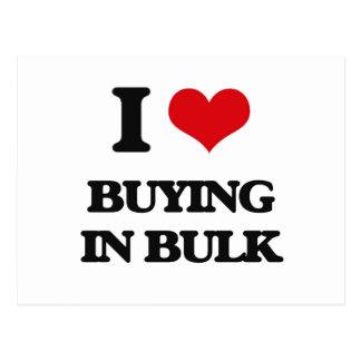 I Love Buying In Bulk Post Card