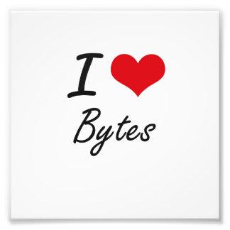 I Love Bytes Artistic Design Art Photo