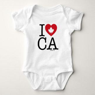 I Love CA | I Love Canada Personalized Baby Bodysuit