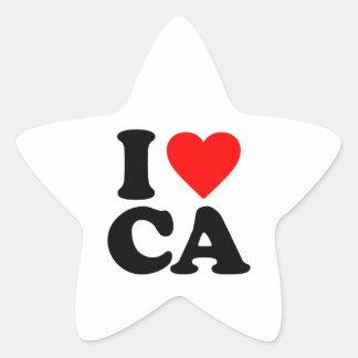 I LOVE CA STAR STICKERS