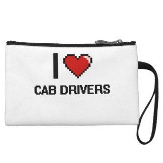I love Cab Drivers Wristlet Clutch