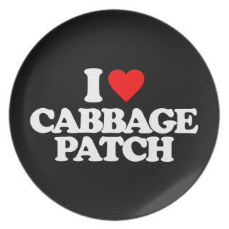 I LOVE CABBAGE PATCH PARTY PLATES