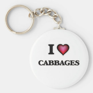 I love Cabbages Key Ring