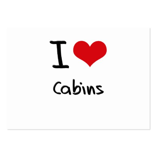I love Cabins Business Card Templates