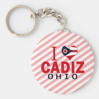 I love Cadiz, Ohio Key Ring