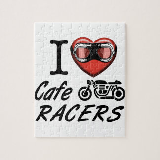 I Love Cafe Racers Jigsaw Puzzle