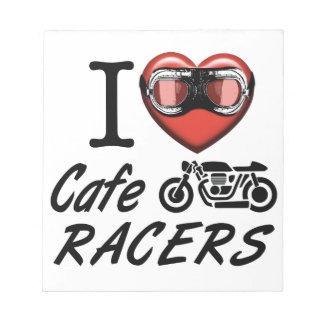 I Love Cafe Racers Notepad