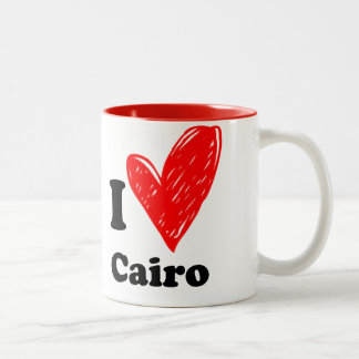 I love Cairo Two-Tone Coffee Mug