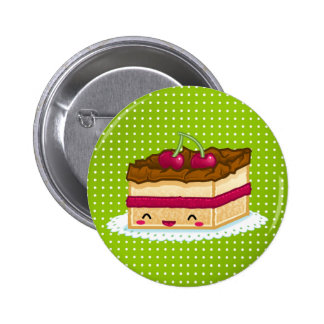 I love cake pinback buttons