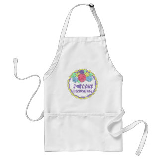 I Love Cake Decorating Baker Pastry Chef Apron