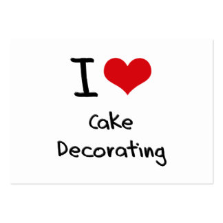 I love Cake Decorating Business Card Template