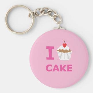 I love cake key chain