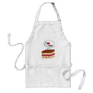 I love cake standard apron