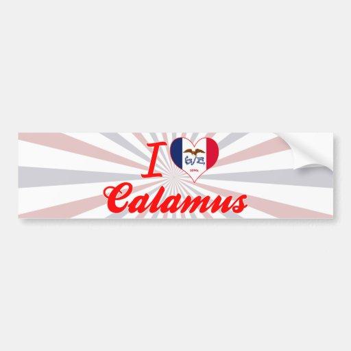 I Love Calamus, Iowa Bumper Sticker