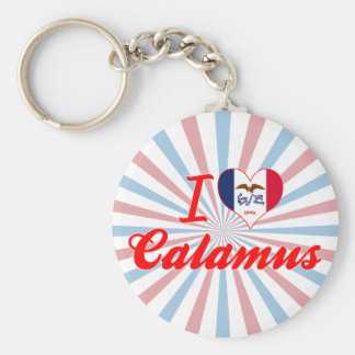 I Love Calamus Iowa Keychain