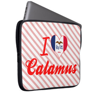 I Love Calamus Iowa Laptop Sleeves