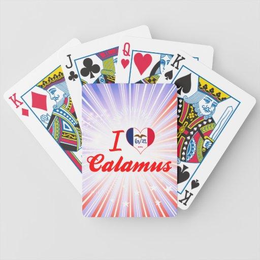 I Love Calamus, Iowa Bicycle Playing Cards