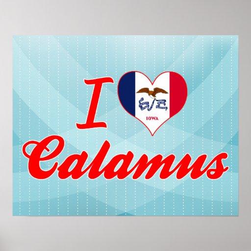 I Love Calamus, Iowa Print