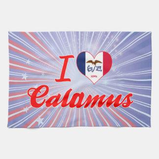 I Love Calamus, Iowa Hand Towel