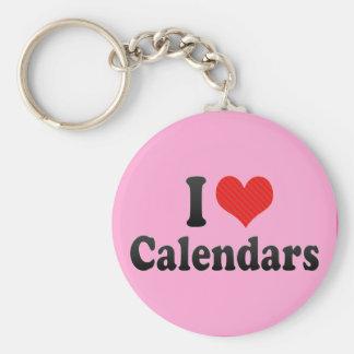 I Love Calendars Keychains