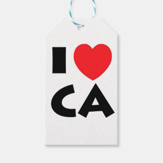I Love California Gift Tags