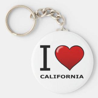 I LOVE CALIFORNIA KEY RING