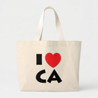 I Love California Large Tote Bag