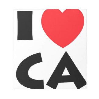 I Love California Notepad