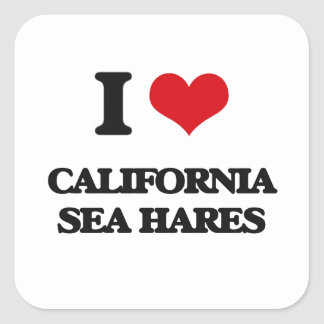 I love California Sea Hares Square Sticker