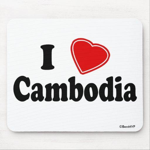 I Love Cambodia Mouse Pad