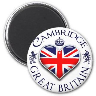 I Love Cambridge 6 Cm Round Magnet