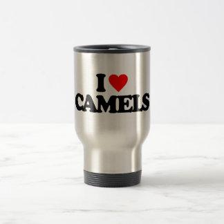 I LOVE CAMELS STAINLESS STEEL TRAVEL MUG