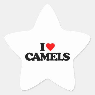 I LOVE CAMELS STICKER