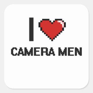 I love Camera Men Square Sticker