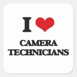 I love Camera Technicians Square Sticker