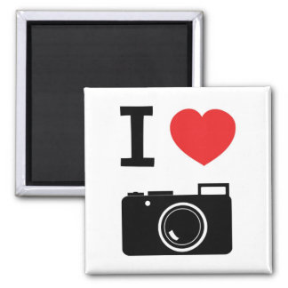 I love Cameras Refrigerator Magnet