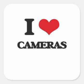 I love Cameras Square Sticker