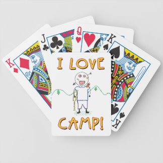 I Love Camp - Funny Kids Summer Camp Drawing Bicycle Playing Cards