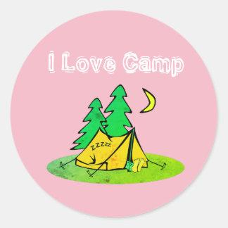 I Love Camp Stickers