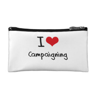 I love Campaigning Cosmetics Bags