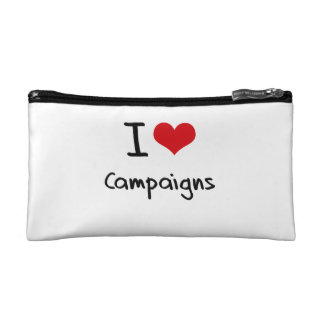 I love Campaigns Cosmetic Bag