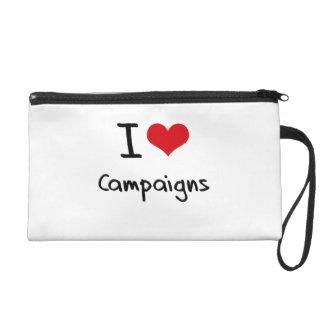 I love Campaigns Wristlet Purse